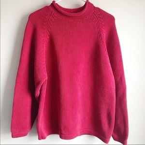 J crew roll neck mock neck sweater in red medium